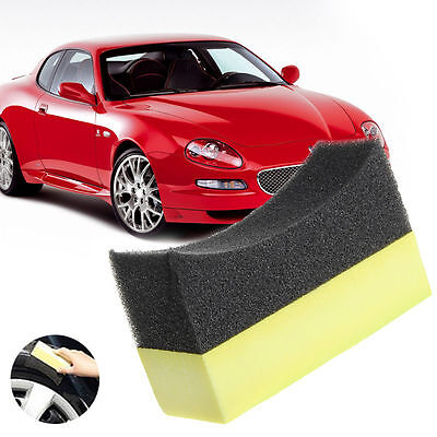 New Car Professional Tyre Tire Dressing Applicator Curved Foam Sponge Pad