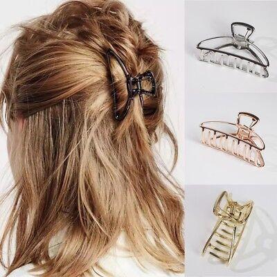 Damen Metall Haarkralle Haarklammern Haarklammer Haarkrebs Haarspange Haarclip