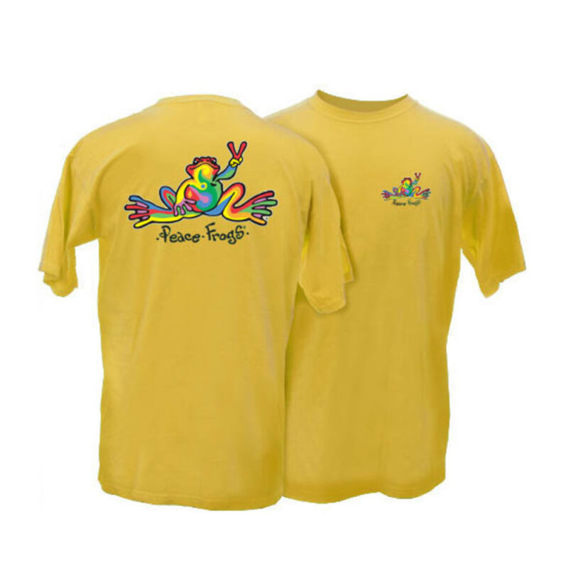Peace Frogs Adult Retro Frog Short Sleeve T-Shirt