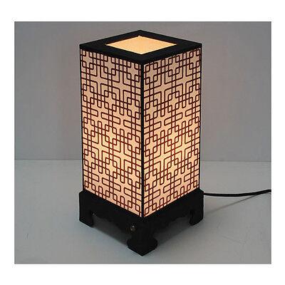Korean Traditional Cross Stripes Rectangle Hanji Lamp Special Gift