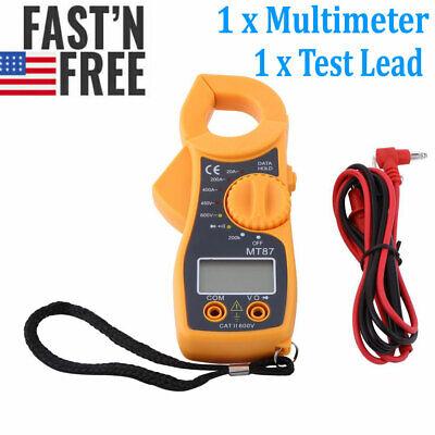 Digital Clamp Meter Multimeter Dcac Voltmeter Auto Range Volt Ohm Amp Tester New