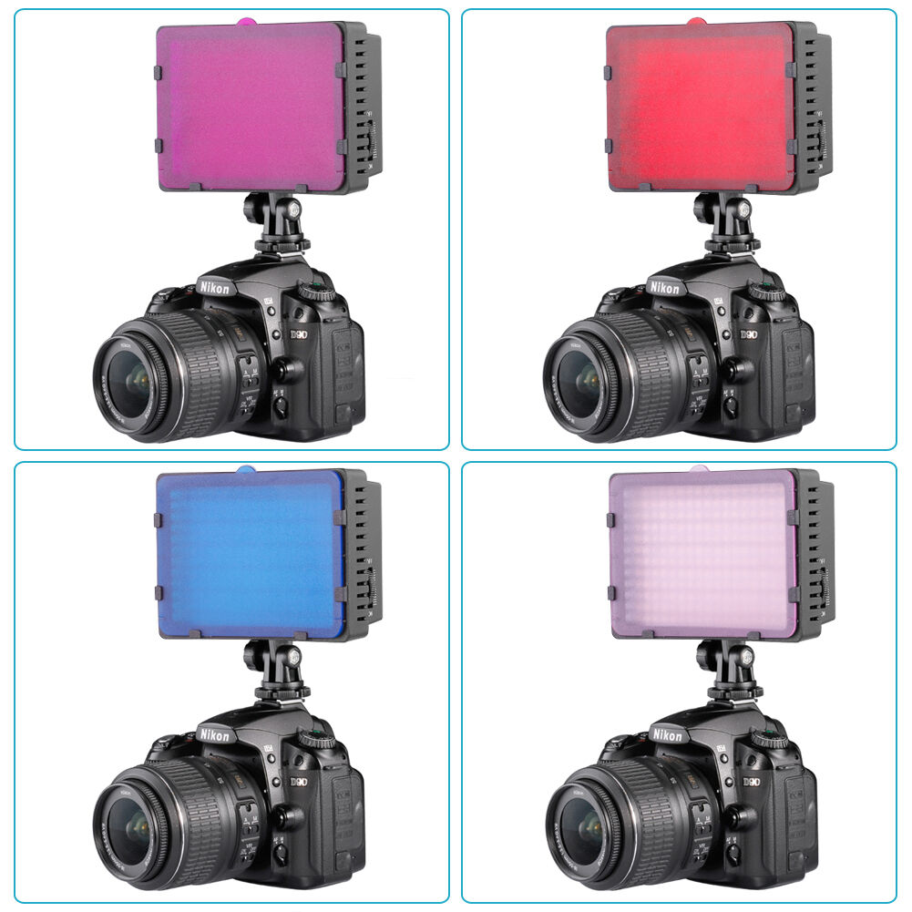 Neewer Red Blue Pink Purple Color Filter for CN126 CN160