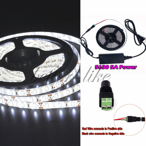 NEW 5M LED Flexible Strip Light SMD 3528 5050 5630 300 /Remote /12V Power Supply