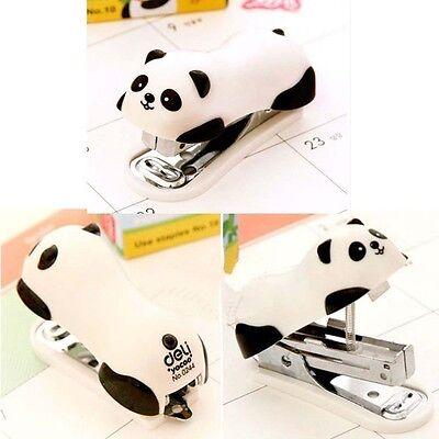 Cute Panda Mini Desktop Staplerstaple Hand Stapler Officehome Good