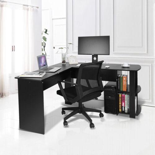 Eckschreibtisch Computertisch Schreibtisch Winkelschreibtisch Schwarz DCM 65