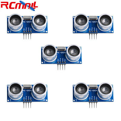 5pcs Hc-sr04 Ultrasonic Transducer Sensor Module Distance Detector For Arduino