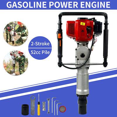 52cc 2 Stroke Gasoline Gas Powered T-post Driver Engine Push Pile Fence Farm Usa