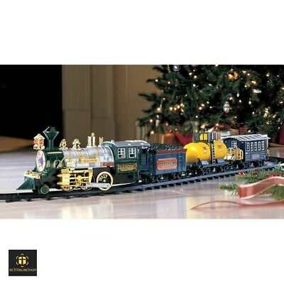 Electric Christmas Train Set Kids Tree Toys Toddler Model Ho Scale Battery Track
