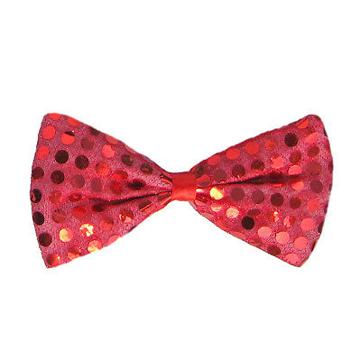 Novelty Dance Costumes (Red Sequin Bow Tie ~ FUN HALLOWEEN COSTUME JULY 4TH NEW YEAR PARTY DANCE)