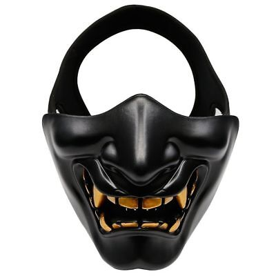 Tactical Half Face Oni Mask for Airsoft Masquerade ball CS Game Hunting](Oni Mask)