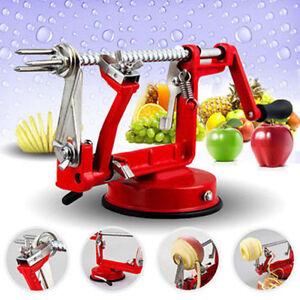 APPLE PEELER SLICER CORER DICER CUTTER POTATO FRUIT VEG MACHINE 3 IN 1 UK