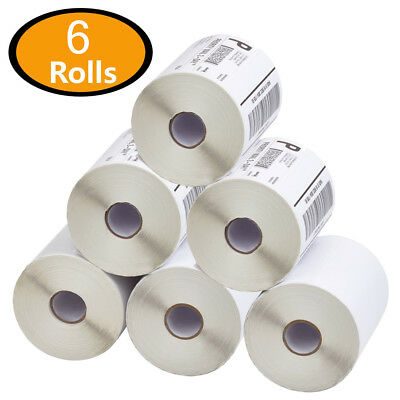 6 Rolls 4x6 Direct Thermal Shipping Labels Zebra Eltron 2844 Zp450 - 250roll