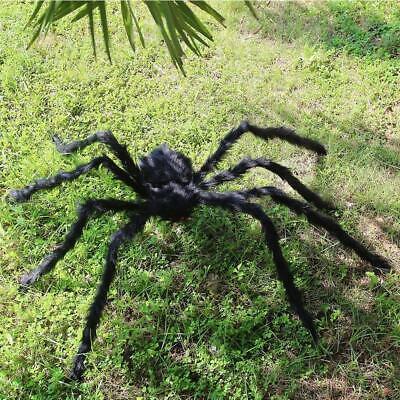Plush Giant Spider Decoration Halloween Haunted House Garden Props