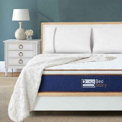 BedStory Mattress 10 inch Soft Foam comfortable Queen Natural Latex spring (Firm Queen Mattress)