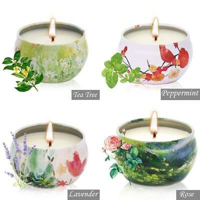 Soy Travel Candle - YIHANG Scented Candles Natural Soy Wax Portable Travel Tin Candle,Set Gift of 4