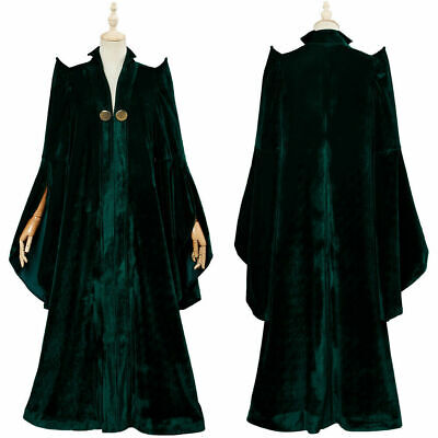 Harry Potter Cosplay Minerva McGonagall Costume Adult Women Party Halloween Suit (Harry Potter Costume Party)