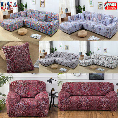 1-4 Seater Elastic Sofa Cover Slipcover Couch Stretch Arm Chair Loveseat Home - 1 Arm Loveseat