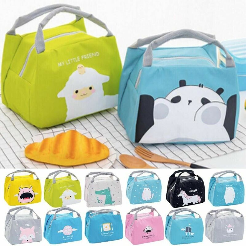 Insulated Lunch Bag Thermal Cooler Girl Boy Kids Picnic Food