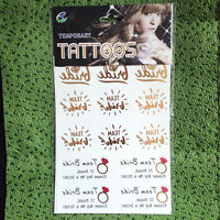 Hens Night Temporary Tattoos Willy Diamond Ring Sticker Bride Team Party Aaa - unbranded - ebay.co.uk
