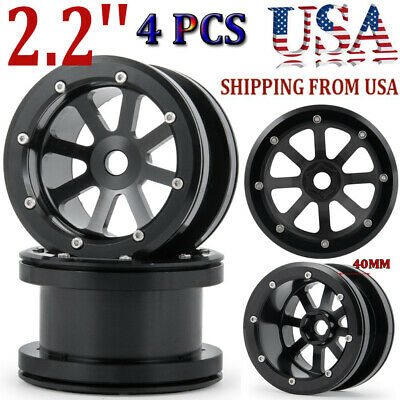 4x 2.2'' Metal Beadlock Wheel Rim for RC 1/10 Crawler Axial Wraith D90 SCX10 -US 2.2 Beadlock Wheel