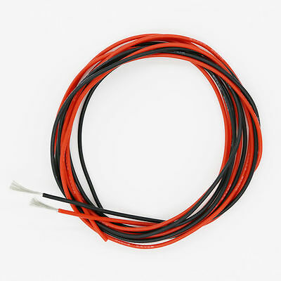 20 Awg Silicone Wire 10 Feet 5 Ft Black 5 Ft Red -20 Gauge Soft And Flexible