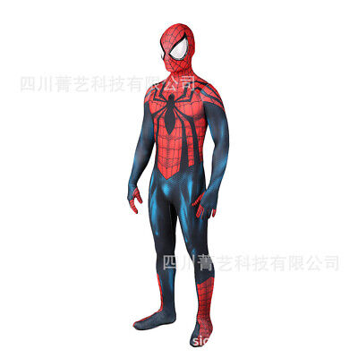Spiderman Costume For Halloween (Scarlet Spider-man Jumpsuit Spiderman Cosplay Costume For Adult & Kids)