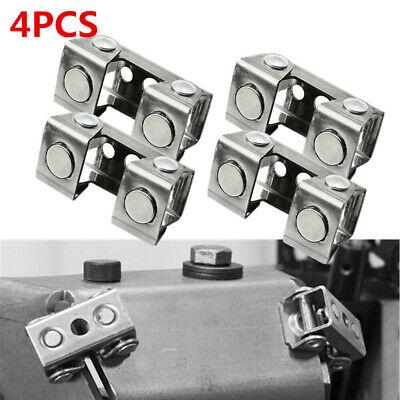 4pcs Metal Magnetic Welding Clamps Holder Suspender Fixture Adjustable V-pads