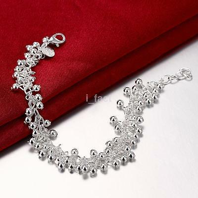 Alloy Silver Plated Celebrity Jewelry Bead Grape Charm Chain Bracelet For Girl S