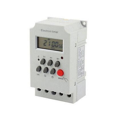 Kg316t-ii 220v Digital Programmable Electronic Timer Switch 50-60hz Din Rail Lcd