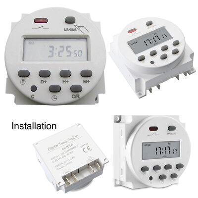 Cn101 Dc 12v Digital Lcd Power Programmable Timer Relay Switch Daily Weekly Good