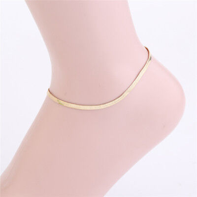 Ladies Ankle Bracelet Foot Jewelry Simple Chain Charm Beach Vacation Boho Anklet (Ladies Anklet)