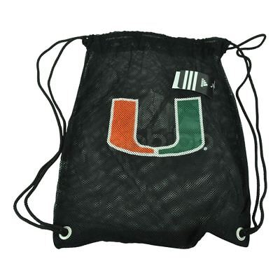 Ncaa Mesh Bag (NCAA Miami Hurricanes Black Mesh Backpack String Bag Gym Sports Canes Game  )