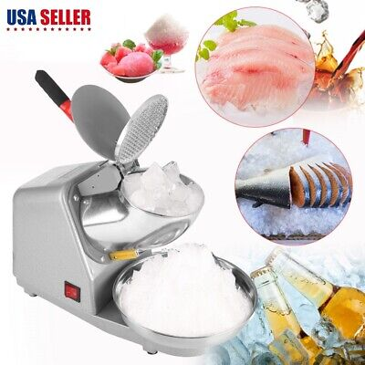 Commercial Electric 187lbs Snow Cone Ice Shaver Maker Machine Ice Crusher Usa