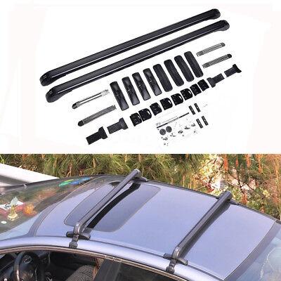 Universal Aluminum Car Top Luggage Roof Rack Cross Bar Cargo Carrier Adjustable