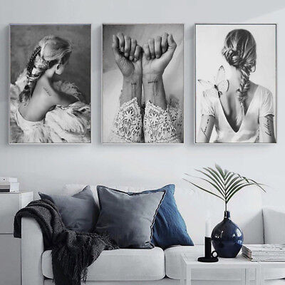 Nordic Art Dancing Girl Canvas Print Painting Home Wall Poster Decor Unframed