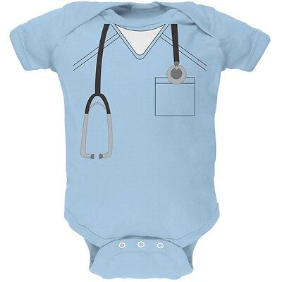Doctor Halloween Costume For Baby (Halloween Doctor Scrubs Costume Light Blue Soft Baby One)
