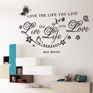 Bob marley quotes decals stickers vinyl art ebay for Inspiratinal bob marley wall decals