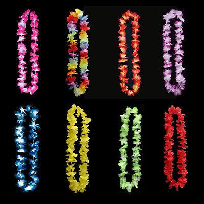 60Pcs Lei Flower Garland Necklace Hawaiian Tropical Beach Pool Party Dress Sight - Hawaiian Flower Necklace