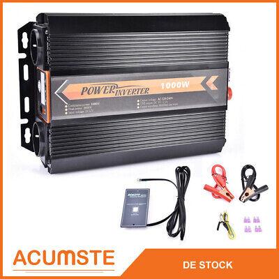 Stromumwandler Spannungs-Wandler 12V-230V 1000W 2000W Wechselrichter Inverter