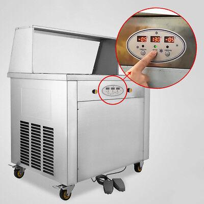 Self Pick Up Thai Fried Ice Cream Machine Roll Ice Cream 2 Pan Temp Control