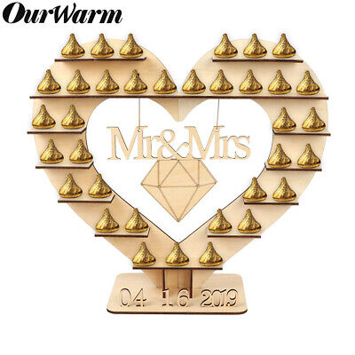 Wooden Heart Ferrero Rocher Chocolate Stand Candy Bar Stand Wedding Centerpiece