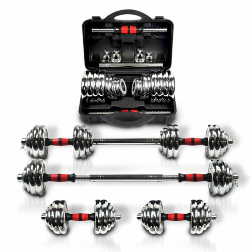 Totall 66LB Dumbells Pair Gym Weights Dumbbell Body Building Free Weight Set New