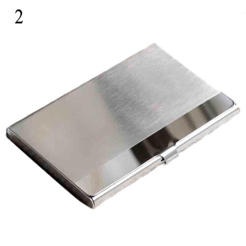Pocket Stainless Steel Business Card Holder Case ID Credit Wallet Silver
