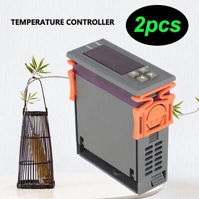 2x Dc 12v Fahrenheit Temperature Controller Thermostat Control Relay Ntc Sensor