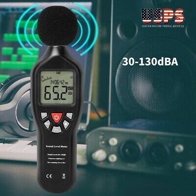 Sound Level Meter Digital Lcd Display Noise Tester Measurement 30-130db Decibel