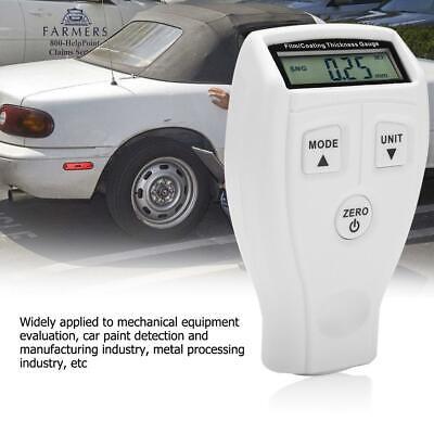 Mini Digital Coating Thickness Gauge 0-1800 Lcd Car Paint Meter Probe Tester