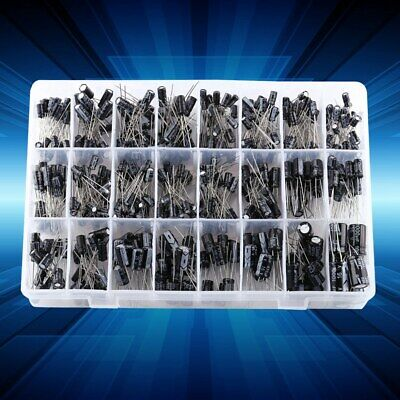 500pcs 24 Values Electrolytic Capacitor Assortment Kit 0.1uf-1000uf 16v-50v Box