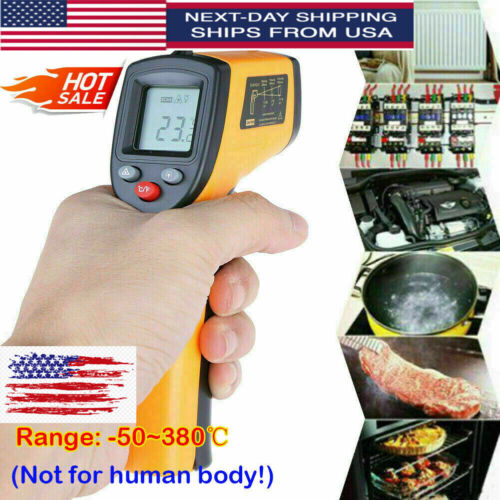 Infrared Thermometer Non-contact Digital Laser Infrared Temperature Gun HOT