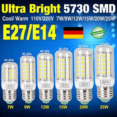 Standard 27 (12 tlg 8 tlg E27 E14 LED 15W 20W 25W Mais Lampe Birne SMD Leuchtmittel Licht DE)