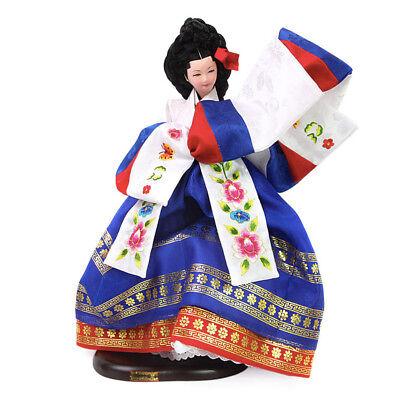 "Korean Traditional Handicraft Dolls Dance of Peace 14.5"" Collectible Figure Gift"